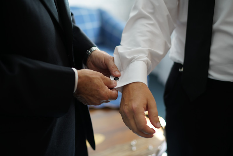 With these cufflinks, I thee prepare to wed