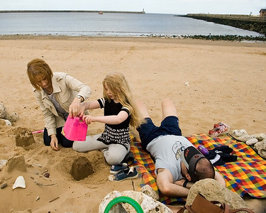Family day out at South Shields