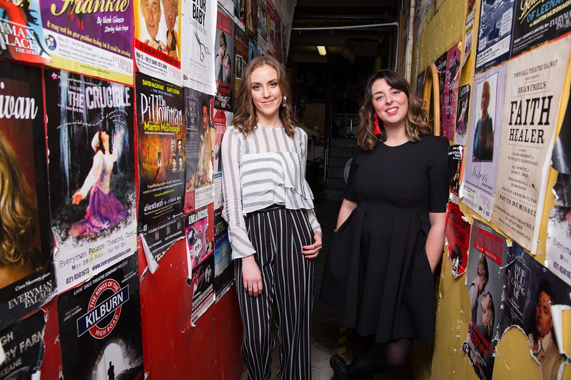 DKANE 22/01/2018 REPRO FREE Writer Louise O'Neill (Asking For It) and Everyman Artistic Director Julie Kelleher pictured at the launch of the Everyman's Spring/Summer programme. The 2018 programme is studded with glittering highlights and includes premium theatre events such as the world premieres of Beckett's How It Is, presented by Gare St Lazare Ireland, and the stage adaptation of Louise O'Neill's award-winning novel Asking For It. For full details on the programme, visit everymancork.com Picture Darragh Kane