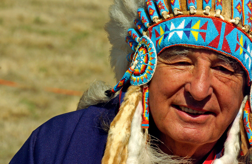 . SANDCREEK28 DENVER, COLORADO--Ben Nighthorse Campbell  Saturday during the dedication of the Sand Creek Massacre National Historic Site on Saturday, April 28, 2007, 15-miles west of Eads, Colorado.  RJ Sangosti/ The Denver Post