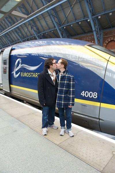 Departure on Eurostar