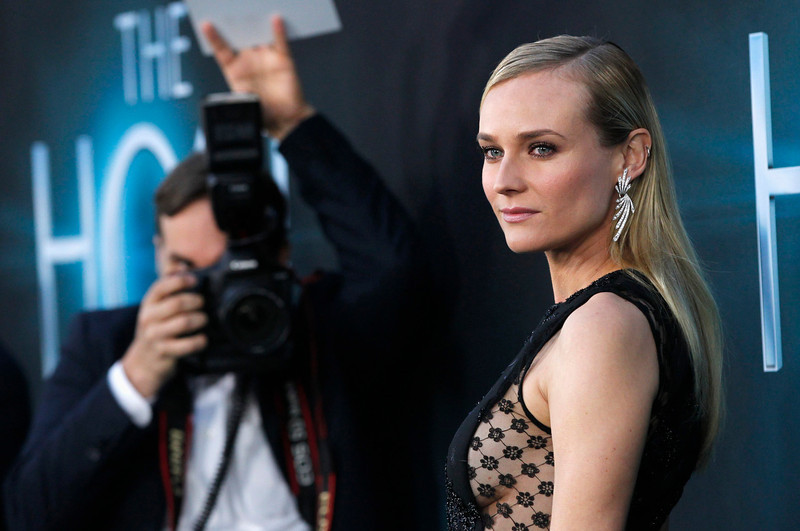 """. Cast member Diane Kruger poses at the premiere of \""""The Host\"""" in Hollywood, California March 19, 2013. The movie opens in the U.S. on March 29. REUTERS/Mario Anzuoni"""