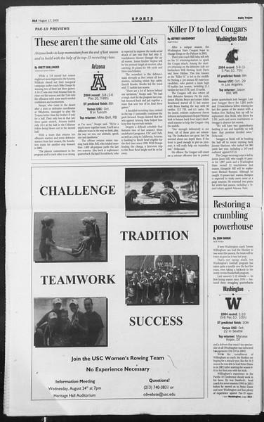 Daily Trojan, Vol. 156, No. 1, August 17, 2005