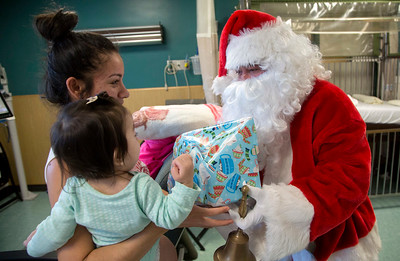 2017 Santa and the Teaneck Fire Department  visit Holy Name