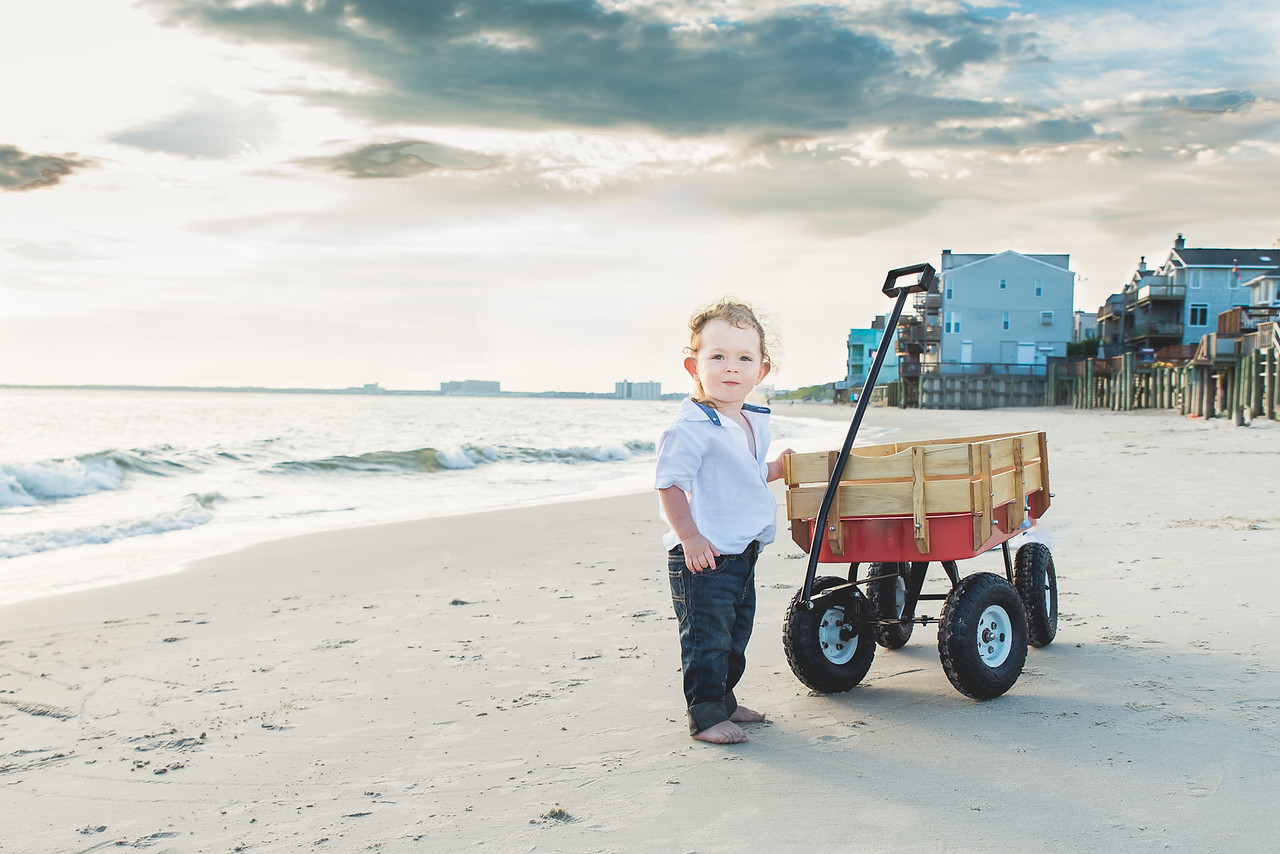 2-year-old Gabriel at Chick's Beach, Virginia Beach, VA