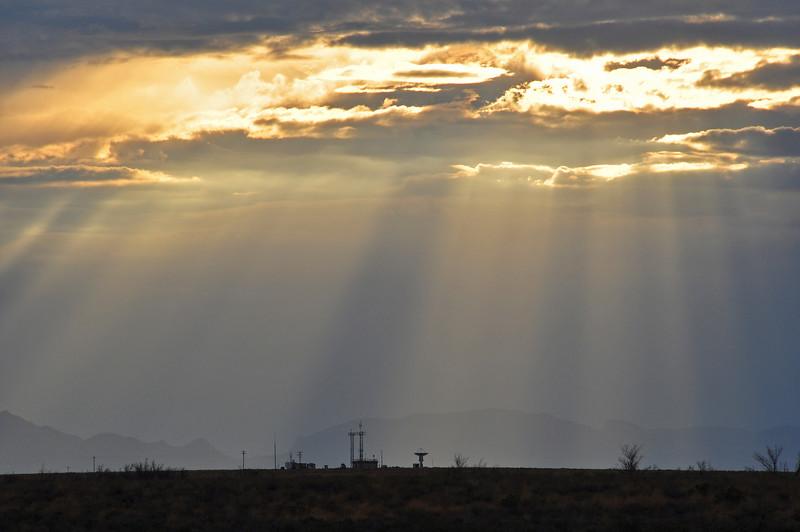 White Sands Missile Range at dusk.