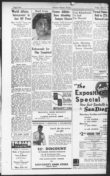 Summer Session Trojan, Vol. 14, No. 6, July 05, 1935