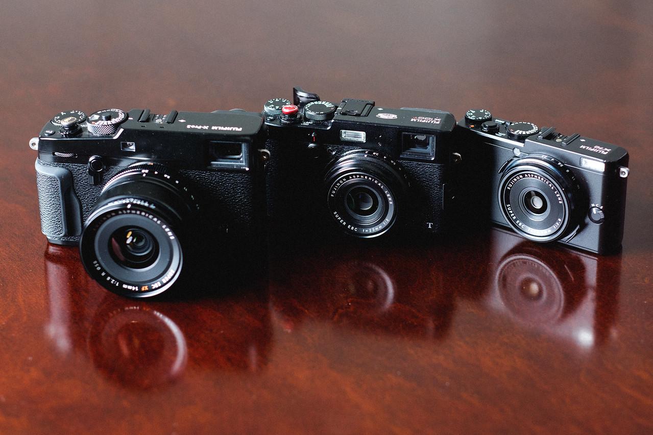 Fujifilm X70 vs X100T size comparison
