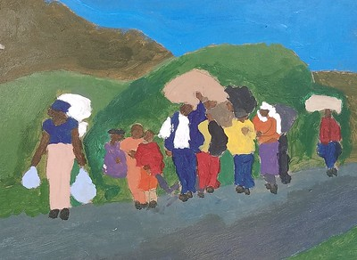 Seventh and Eighth Graders Learn About  Refugee Groups Through Art