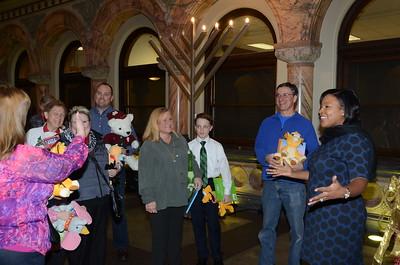 Trinity Episcopal Church  Books & Bears Donation 12/19/2014