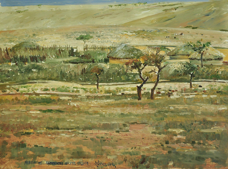 African Series; MASSAII VILLAGE; Ngorongoro Crater, Tanzania