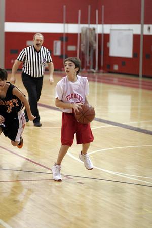 Middle School Boys Basketball 8B - 2006-2007 - 1/4/2007 Grant