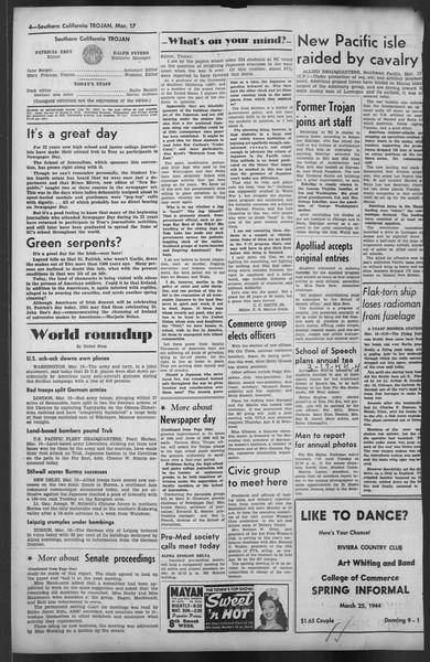 The Trojan, Vol. 35, No. 94, March 17, 1944