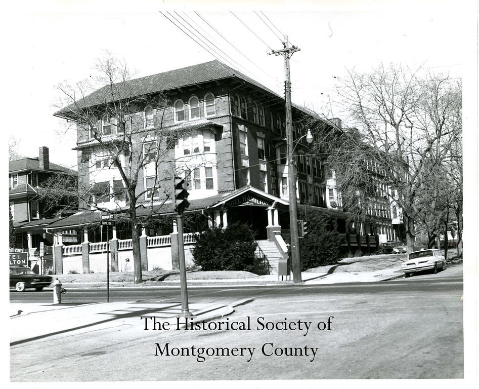. This photo from the Historical Society of Montgomery County shows the Hamilton Hotel at Main and Hamilton streets in Norristown, c. 1960.