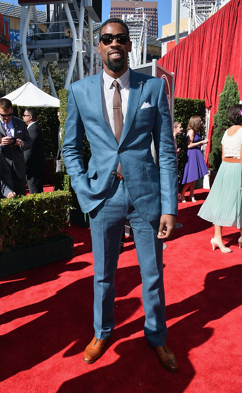 . NBA player DeAndre Jordan attends The 2013 ESPY Awards at Nokia Theatre L.A. Live on July 17, 2013 in Los Angeles, California.  (Photo by Alberto E. Rodriguez/Getty Images for ESPY)