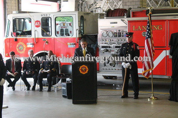 9/9/16 - Lansing Firefighter Dennis Rodeman memorial services