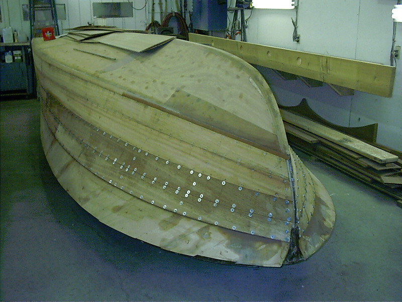 Front port view of second two planks.