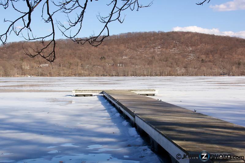 A dock at Rockland Lake