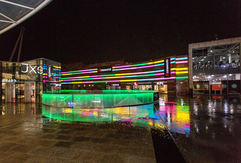 Friars Walk Shopping Centre at night