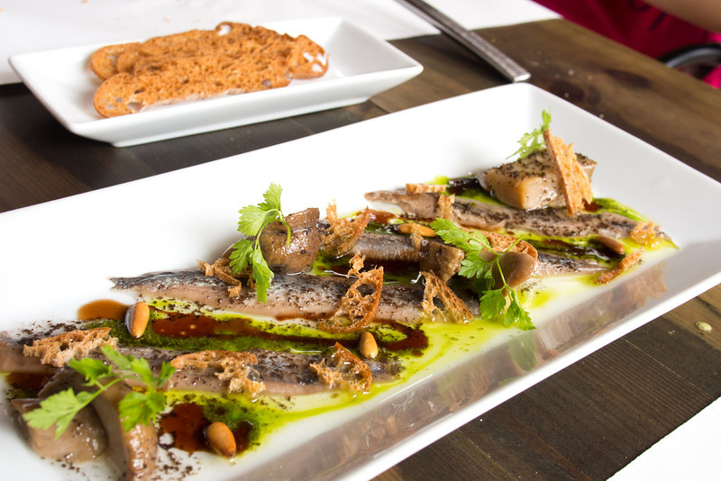 Anchovies with wild mushrooms fir tree honey and truffle 2.jpg