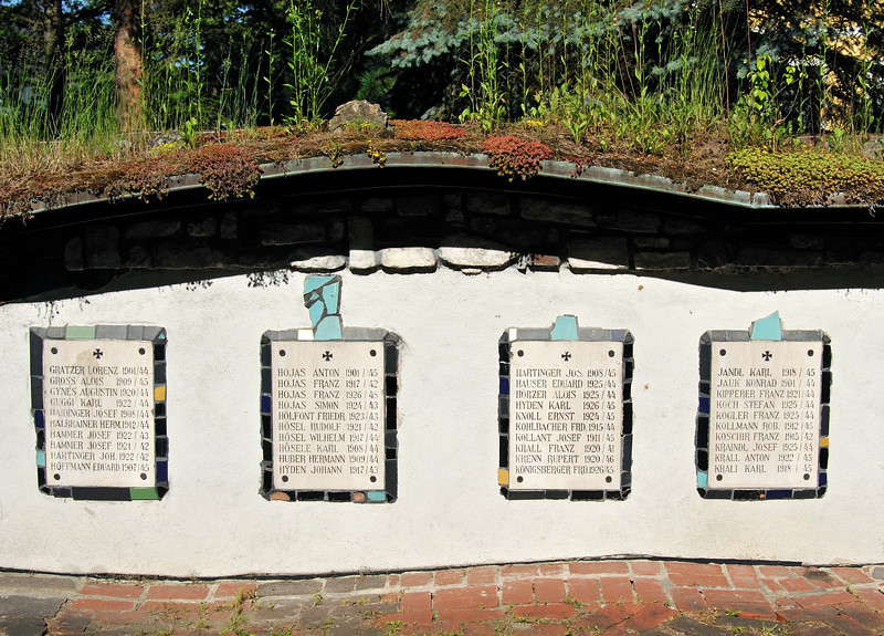 Soldiers Memorial Tablets, St. Barbara Church by Hundertwasser i