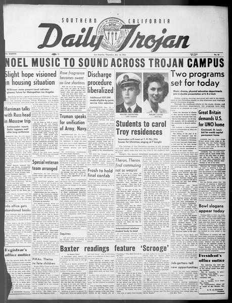 Daily Trojan, Vol. 37, No. 35, December 20, 1945