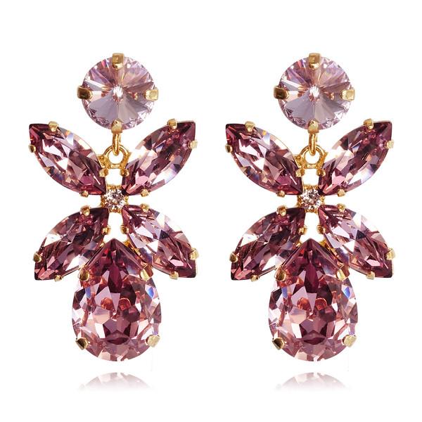 Dione Earrings / Light Amethyst / Gold