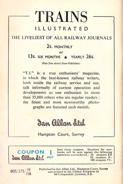 Summer 1958 Locoshed Book.