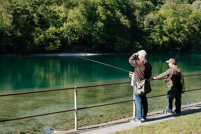 Fishing at the pointe de la jonction Geneva