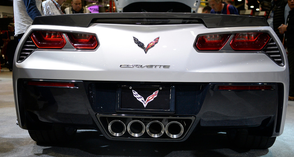 . Nov 6,2013 Las Vegas NV. USA. Look of the new Chevy Stingray Corvette on display at the Chevy booth, during the second day of the 2013 SEMA auto show. Photo by Gene Blevins/LA Daily News