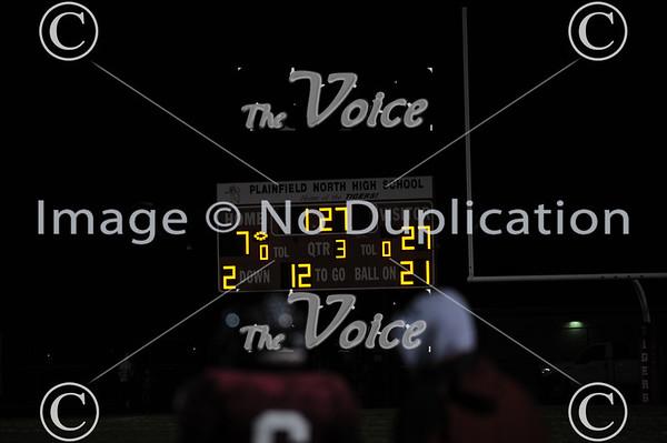 Oswego East High School Football at Plainfield North High School in Plainfield, Ill 10-25-13