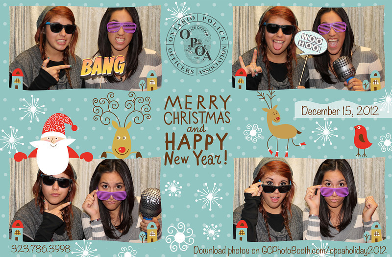Ontario Police Officers Holiday Party Photobooth Prints