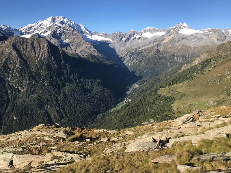 View from Rifugio Longoni area