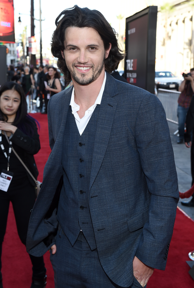 ". Actor Nathan Parsons attends Premiere Of HBO\'s ""True Blood\"" Season 7 And Final Season at TCL Chinese Theatre on June 17, 2014 in Hollywood, California.  (Photo by Michael Buckner/Getty Images)"