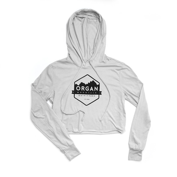 Organ Mountain Outfitters - Outdoor Apparel - Womens - Classic Cropped Tri-Blend Hoodie - White.jpg