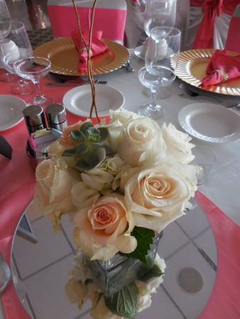 Succulents, roses, hydrangea $60