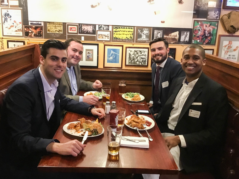 Anthony Cusano '09, Pierce Ford '09, Ian Lapin '09, and Jon Haspilaire '07