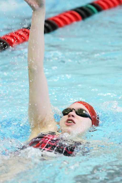 . Barry Booher - The News-Herald Maddy Pierce (Perry) 100 yard backstroke.