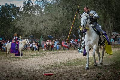 Herald Watches Knight's Spear Challenge