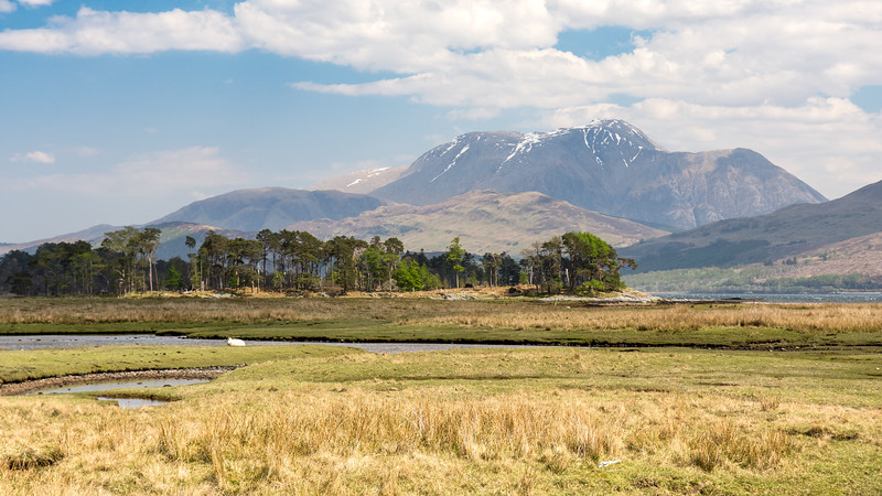 Inverscaddle Bay and Ben Nevis mountain