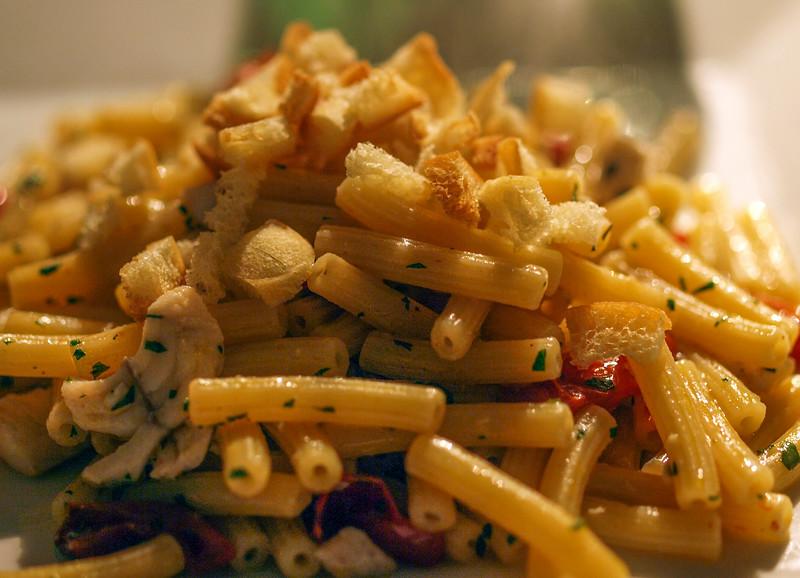 I Sedanini e la Polpa di Scorfano con il Pomodorino alla Tranese at Osteria Corteinfiore