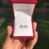 1.85ctw Old European Cut Diamond Stud Earrings 10