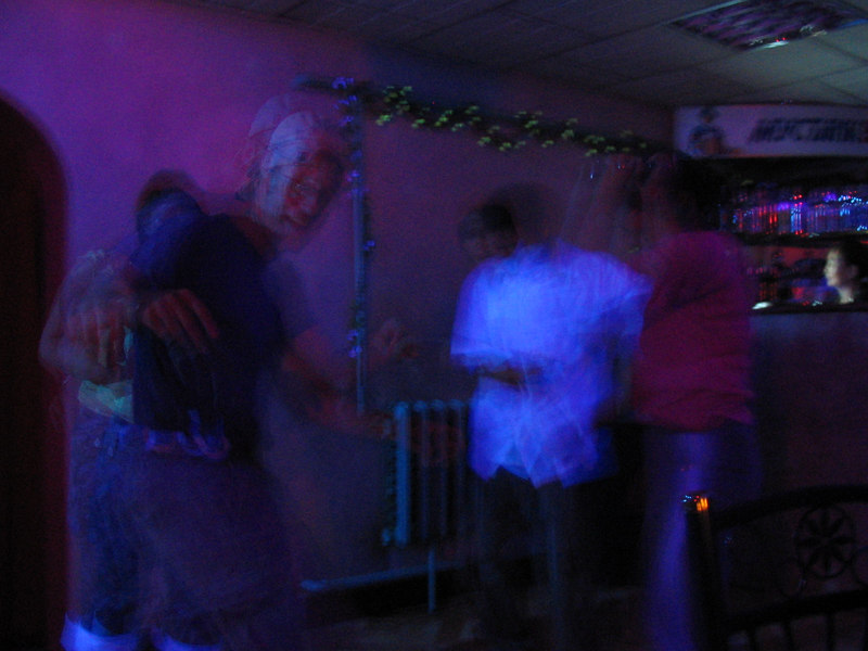 """Shakin' it with locals at Mustang Bar in only """"city"""" in the Gobi Desert."""