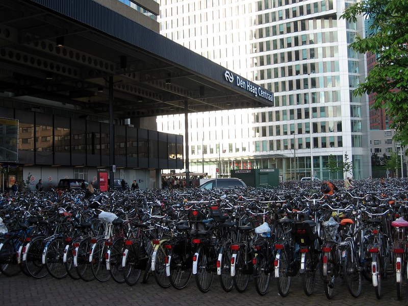 Bicycles at Den Haag Centraal (The Hague Central Train Station)