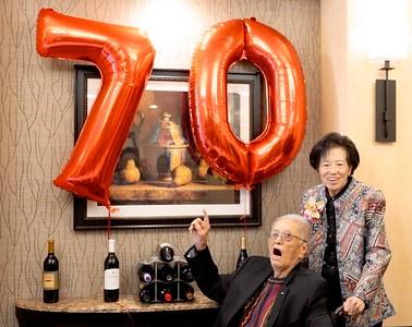 So Ca Parents' 70th. anniversary