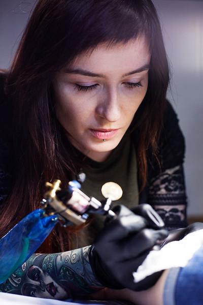 Tattoo Artist Xenia Jokris. Saint Petersburg, 2016.