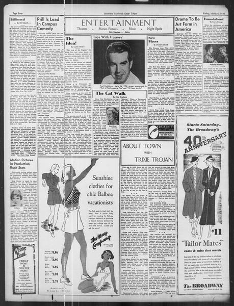 Daily Trojan, Vol. 27, No. 93, March 06, 1936
