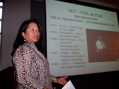 Pitzner College / Eloisa Borah at UCLA - Oct. 2007 FilAm History Month