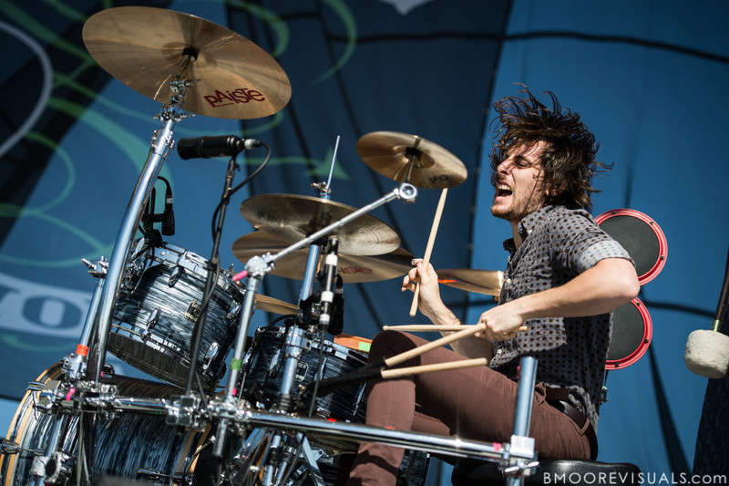 Matt Thomas of The Joy Formidable performs on December 1, 2012 during 97X Next Big Thing at Vinoy Park in St. Petersburg, Florida