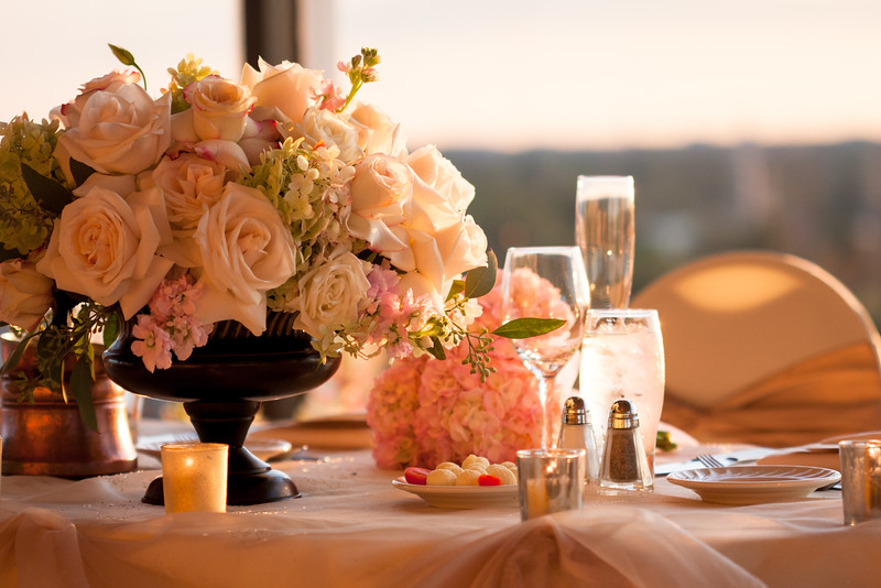 The sunset provided amazing natural light at the Monaco ballroom in DoubleTree Hilton hotel in Skokie, IL.